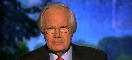 Bill Moyers delivered a blistering attack on the NRA, one day after the aurora shooting. (photo: PBS)