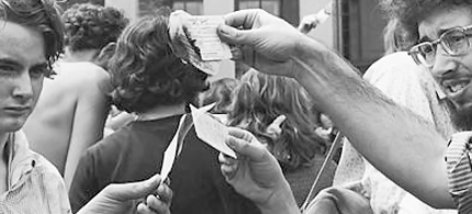 Protesters burn their draft cards during the Vietnam War. (photo: cannabisculture.com)