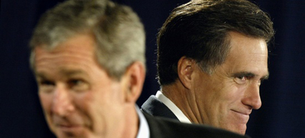 Mitt Romney's economic plans are similar to George W. Bush's. (photo: Kevin Lamarque/Reuters)