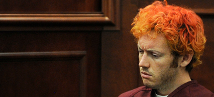 Aurora shooter James Holmes is rarely referred to as a terrorist. (photo: AP)