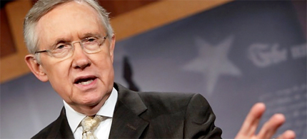Senator Harry Reid says Romney paid no taxes for ten years. (photo: Reuters)