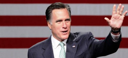 Mitt Romney says tax cuts for the rich will create jobs. (photo: Carlos Osorio/AP)