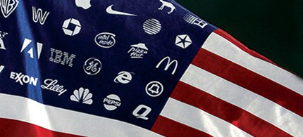 Corporations are not showing patriotism when it comes to paying their fair share of takes. (image: corpwatch)