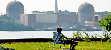 Relicensing of reactors 2 and 3 at Indian Point nuclear power plant are among those put on hold by the NRC. (photo: Librado Romero/NYT)