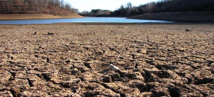 Dried lake sediment, left behind by a shrinking lake at Wooly Hollow State Park, Arkansas. (photo: John Lewis/National Weather Service)