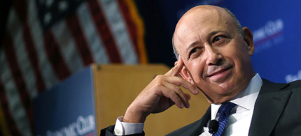 Lloyd Blankfein, Chairman and CEO of the Goldman Sachs Group, at the Economic Club of Washington luncheon, 07/18/12. (photo: Mark Wilson/Getty Images)