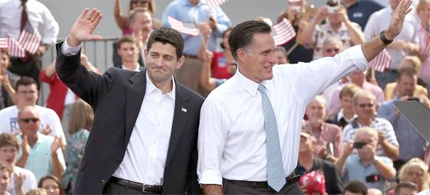 Mitt Romney announces Paul Ryan as his VP. (photo: New York Magazine)