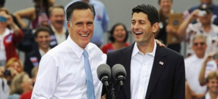 Mitt Romney and Paul Ryan, 08/11/12. (photo: Jason Reed/Reuters)