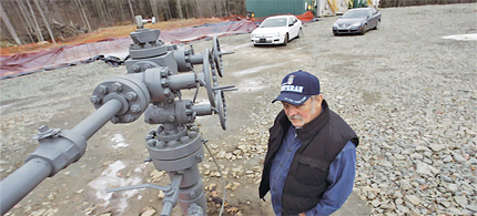 Cabot Oil & Gas has taken Ken Ely's land, polluted his water and run over his dog in Pennsylvania. (photo: Scranton Times Tribune)