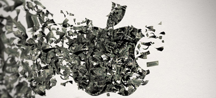 Wall Street cashes in on others ideas, like the creative people at Apple. (photo: Business Week)