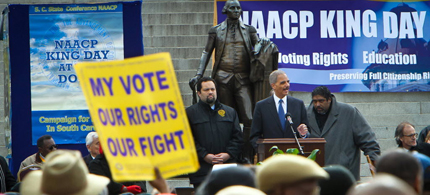 Attorney General Eric Holder warned that voting rights, particularly for minorities, are under assault in some states. (photo: Tim Dominick/The State/MCT)