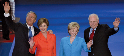 The Bushs and the Cheneys at the 2004 Republican convention. (photo: Getty Images)