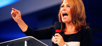 Rep. Michelle Bachmann speaks at the Unity Rally in Tampa, Florida, 09/01/12. (photo: Eve Edelheit/Tampa Bay Times/MCT)