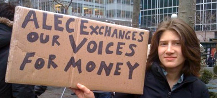 Groups like ALEC broker the buying of our politics. (photo: Occupy Wall Street)