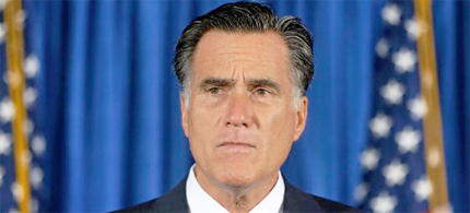 Mitt Romney makes comments on killing of US embassy officials in Libya. (photo: Charles Dharapak/AP)