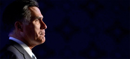 Romney repeated the wildly misleading but increasingly popular conservative talking point that 47 percent of Americans pay no income taxes. (photo: Kevork Dejansezian/Getty Images)