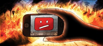 'The storm over an incendiary anti-Islamic video posted on YouTube has stirred fresh debate'. (illustration: Nick Arciaga)