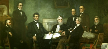 The first reading of the Emancipation Proclamation of President Lincoln. (illustration: Francis Bicknell Carpenter)