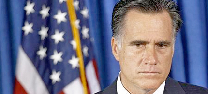 U.S. Republican presidential nominee Mitt Romney listens to questions from the press.  (photo: Jim Young/Reuters)