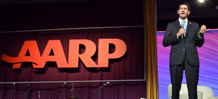 Paul Ryan got a less-than-friendly response to his speech at the AARP convention. (photo: Bill Haber/AP)
