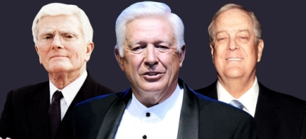 Bob Perry, Foster Friess and David Koch. (photo: Unknown)