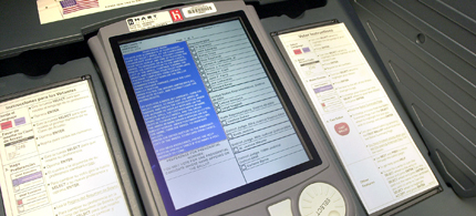 An eSlate touch-screen voting machines manufactured by Hart InterCivic. (photo: Austin Chronicle)