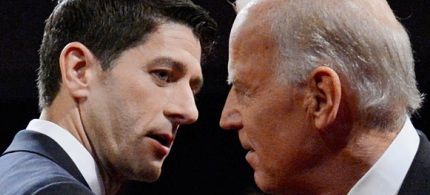 Paul Ryan and Vice President Joe Biden at last night's debate. (photo: ThinkProgress)