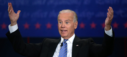 Joe Biden at the vice presidential debate in Danville, Kentucky. (photo: Alex Wong/Getty Images)