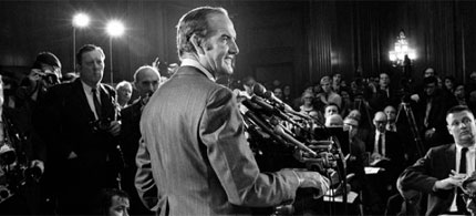 George McGovern at a 1971 press conference. (photo: George Tames/New York Times)