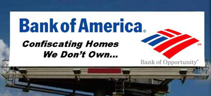 The Bank of America is being sued by the federal government for mortgage fraud. (photo: Occupy.org)
