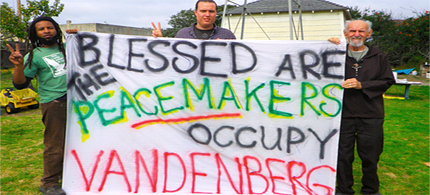 Nonviolent civil resisters caused a disruptive breach of the backcountry security zones at Vandenberg Air Force Base. (photo: Vandenberg Witness)