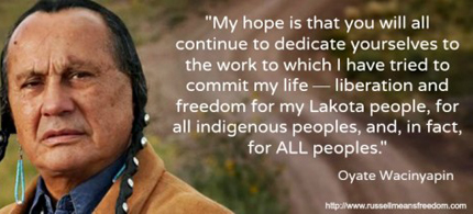 This image from his website includes a statement that would be a proper goodbye. (photo: RussellMeans.com)