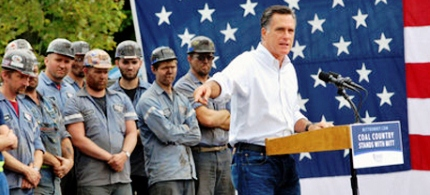'A number of Romney backers took it upon themselves to spell out more clearly to their workers what 'the best interest for their job' really means.' (photo: AP)