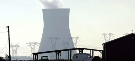 A cooling tower is seen at the Salem nuclear power plant known as Artificial Island. (photo: Mel Evans/AP)