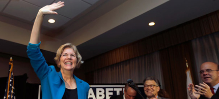 Elizabeth Warren unseated Scott Brown in Massachusetts. (photo: AP)