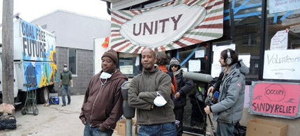 Rockaway Park residents in front of YANA Community Center. (photo: Facebook/Occupy Sandy Relief NYC)