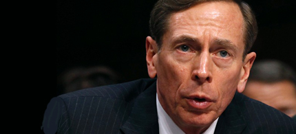 David Petraeus testifies before the Senate. (photo: Kevin Lamarque/Reuters)
