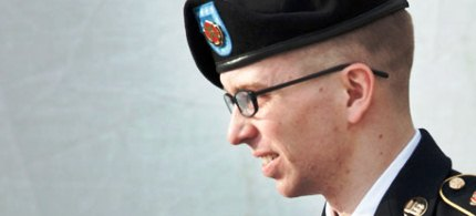PFC Bradley Manning has offered a partial plea deal, acknowledging responsibility for leaks. (photo: Brendan Smialowski/Getty Images)
