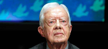 Former president Jimmy Carter listens during the 12th World Summit of Nobel Peace Laureates in Chicago, Illinois, April 23, 2012. (photo: Jeff Haynes/Reuters)