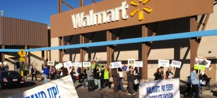 Grayson: 'Even though those employees comprise barely 10 percent of its cost of doing business, Walmart exploits them mercilessly.' (photo: Joseph Huff-Hannon)