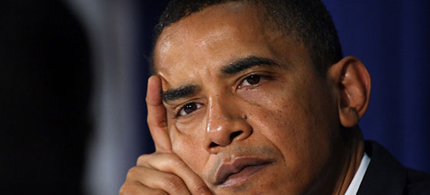 President Obama is the target of more than 30 death threats a day. (photo: Peter Kramer/AP)