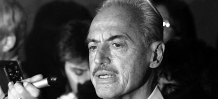 This July 16, 1981 file photo shows baseball union leader Marvin Miller speaking to reporters after rejecting a proposal to end a baseball strike, in New York. Miller died Tuesday, Nov. 27, 2012 in New York. He was 95. (photo: AP)