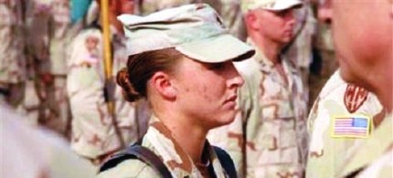 BBC: 'Marine Corps Capt Zoe Bedell said existing rules had blocked her advancement in the Marines.' (photo: unknown)