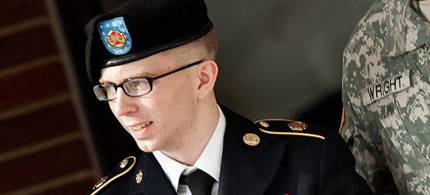 Bradley Manning testified about his conditions in military lockup. (photo: ABC News)