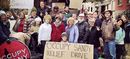 Occupy Albany has collected supplies for Occupy Sandy relief efforts. (photo: Occupy Albany)