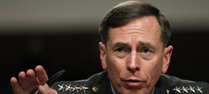 In this June 29, 2012 file photo, Gen. David Petraeus testifies before the Senate Armed Services Committee on Capitol Hill in Washington. (photo: Pablo Martinez Monsivais/AP)
