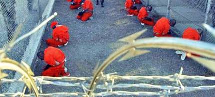 US prisoners at Guantanamo Bay. (photo: unknown)