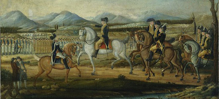 George Washington and his troops near Fort Cumberland, Maryland, before their march to suppress the Whiskey Rebellion in western Pennsylvania. (photo: Metropolitan Museum of Art)