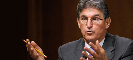 West Virginia Senator Joe Manchin is calling for a balanced approach to mass killings. (photo: AP)