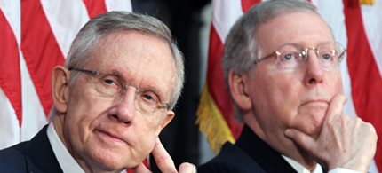 Senators Harry Reid and Mitch McConnell. (photo: Getty Images)